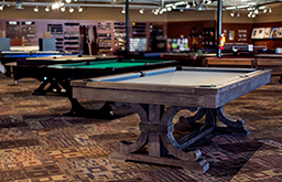 Norcross Store - line of pool tables